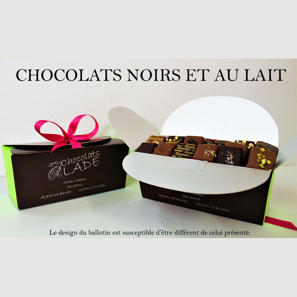 Ballotins chocolats noirs et lait