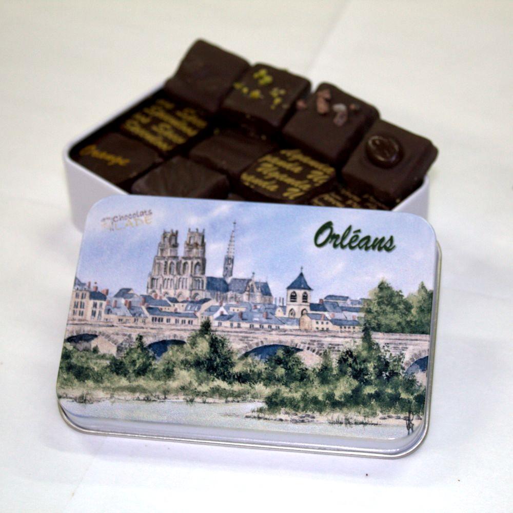 Boîte Orléans Aquarelle – chocolats noirs