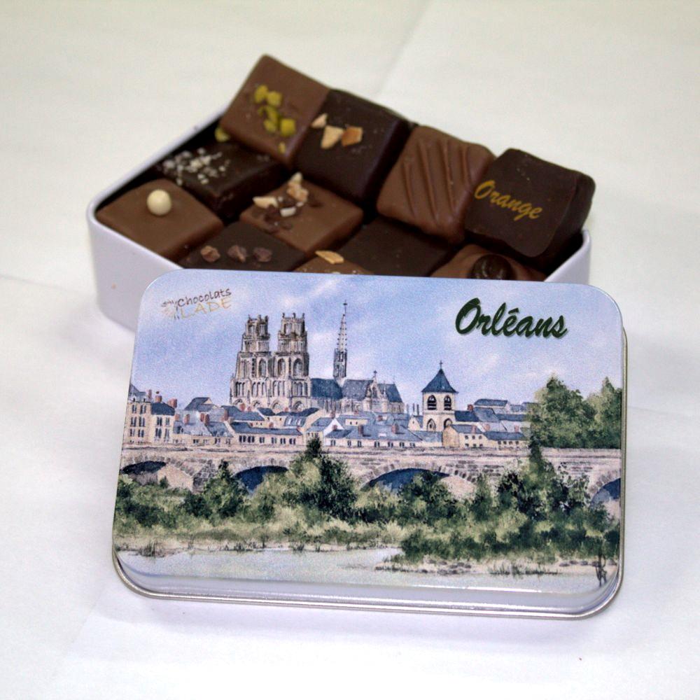 Boîte Orléans Aquarelle Noir et Lait