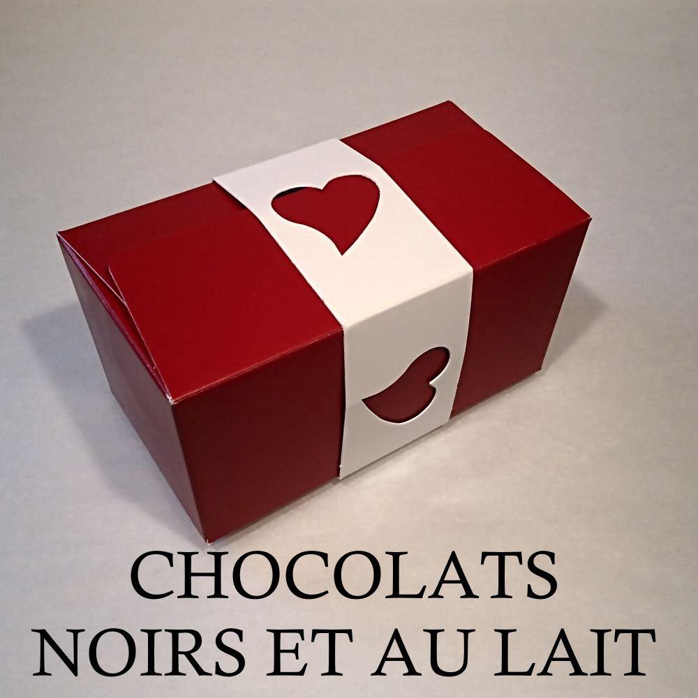 Ballotin d'amour 250g Noir et Lait
