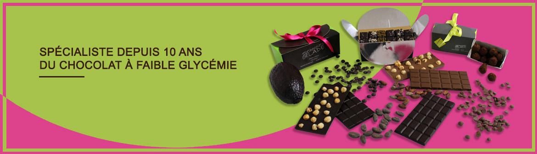 Spécialiste depuis 10 ans du chocolat à faible glycémie